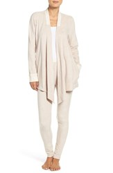 Dkny Women's Open Cardigan And Lounge Leggings Frappe Faux Heather