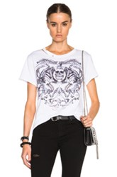 Alexander Mcqueen Tattoo Print Rock Tee In White