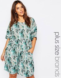 Junarose Palm Print Playsuit Multi