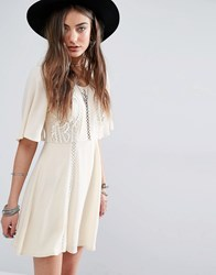 Kiss The Sky Lace Detail Dress Cream