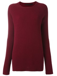 Haider Ackermann Boat Neck Jumper Red