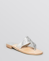 Jack Rogers Hamptons Thong Sandals Silver