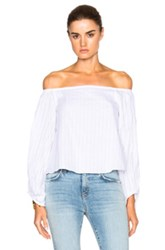 Nicholas Balloon Sleeve Top In White
