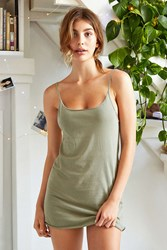 Out From Under Raw Cut Cami Slip Green
