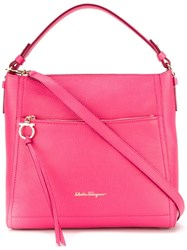 Salvatore Ferragamo 'Ally' Hobo Tote Pink And Purple