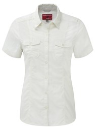 Craghoppers Nosilife Darla Short Sleeved Shirt White