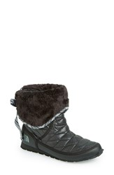 The North Face Women's Thermoball Water Resistant Boot Shiny Black
