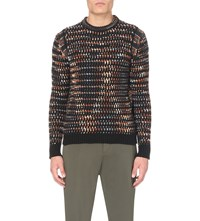 Missoni Patterned Cashmere Jumper Black Orange