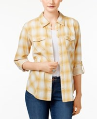 Styleandco. Style Co. Plaid Button Front Shirt Only At Macy's Gavensport Honey