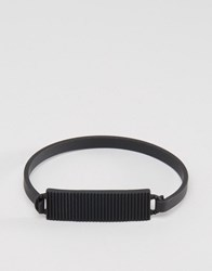 Icon Brand Premium Division Id Bangle Bracelet In Black Black