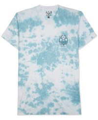 Jem Men's Tie Dyed Graphic Print T Shirt Maui Blue