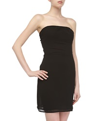 Sweet Pea Self Tie Strapless Voile Dress Black