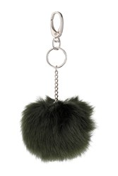 Topshop Small Fluffy Pom Bag Charm Black