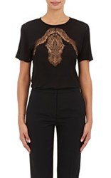 Nina Ricci Women's Lace Inset T Shirt Black