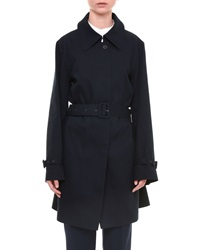 Jil Sander Belted One Button Trench Coat Navy