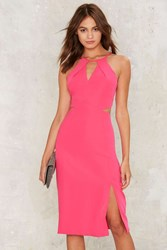 Get Neon With It Midi Dress Pink