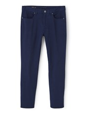Mango 5 Pocket Garment Dyed Trousers Navy