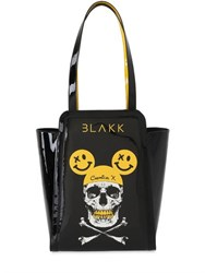 Thomas Blakk Pipkin Skull Faux Leather Tote Bag