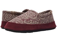 Acorn Moc Summerweight Plum Batik Women's Slippers Red
