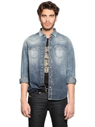 Diesel Bleached Cotton Denim Western Shirt