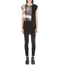Allsaints Printed Jersey Top Black