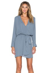Three Eighty Two Lana Surplice Dress Gray