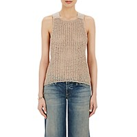 Simon Miller Women's Open Stitched Silk Nez Top Ivory