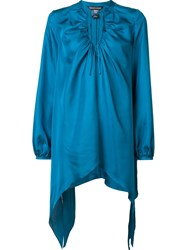 Thomas Wylde Silk 'Charge' Blouse Blue