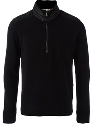 Moncler Grenoble Banded Collar Sweater Black