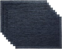 Cb2 Set Of 8 Net Navy Blue Placemats