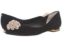 Ted Baker Ljana Black Suede Women's Flat Shoes