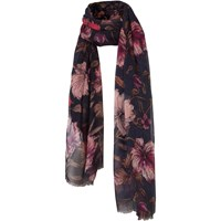 Fat Face Hand Drawn Floral Scarf Navy Multi