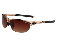 Tifosi Optics Wisp Interchangeable Crystal Brown Brown Gradient Ac Red Clear Lens Sport Sunglasses