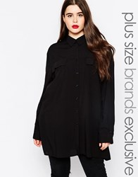 Alice And You Longline Shirt Black