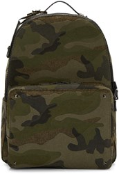 Valentino Green Camo Rockstud Backpack