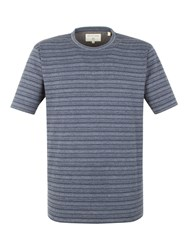 Racing Green Molina Stripe T Shirt Navy