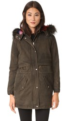 Rebecca Minkoff Theo Coat Army Green Multi