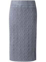 Guild Prime Cable Knit Skirt Grey