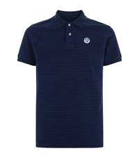 North Sails Andrew Stripe Polo Shirt Male Navy