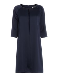 Shubette Jewel Trim Coat And Shift Dress Navy
