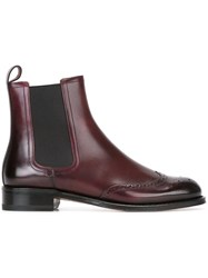 Bally 'Bagia' Chelsea Boots Red