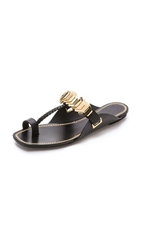 Rachel Zoe Ida Toe Ring Sandals Black