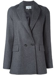 Carven Double Breasted Blazer Grey