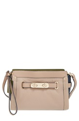 'Swagger' Pebbled Leather Wristlet Stone