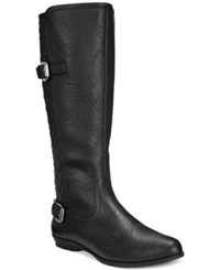 White Mountain Foxfire Tall Boots Women's Shoes Black