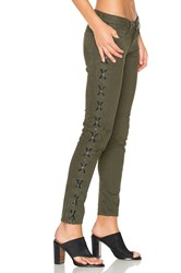 Etienne Marcel Lace Up Skinny Military