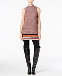 Inc International Concepts Space Dyed Tunic Only At Macy's Burnt Pepper