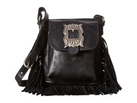 American West Eagle Feather Soft Crossbody Fringe Bag Charcoal Cross Body Handbags Gray