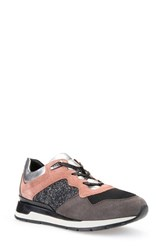 Geox Women's 'Shahira' Sneaker Old Rose Suede