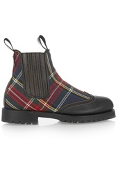 Penelope Chilvers Oscar Tartan Twill And Leather Boots